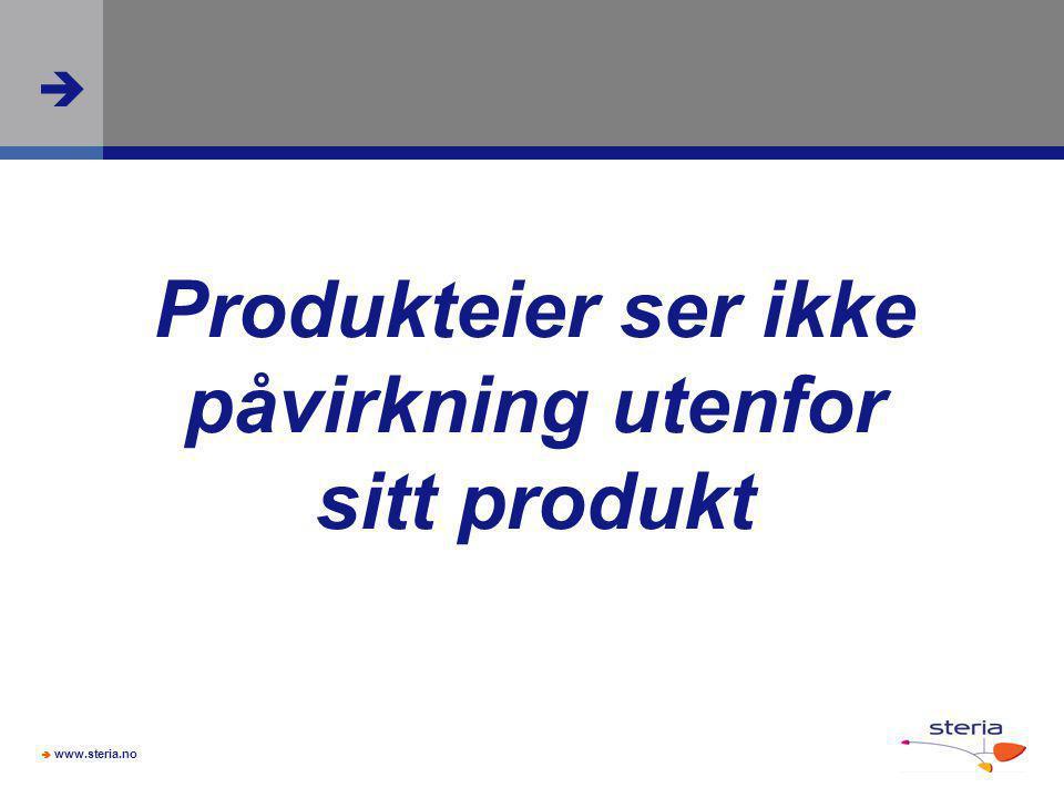 Produkteier ser ikke påvirkning utenfor sitt produkt
