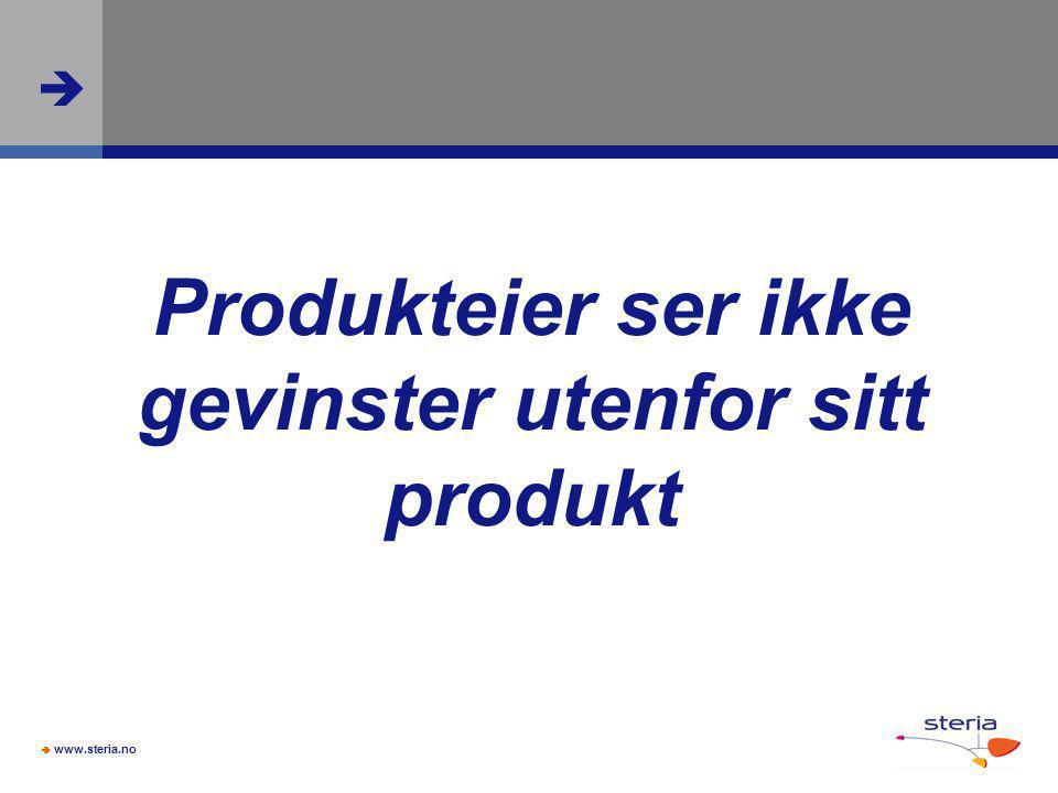 Produkteier ser ikke gevinster utenfor sitt produkt