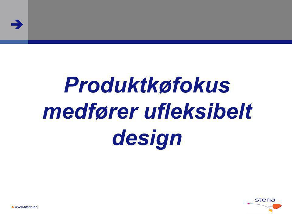 Produktkøfokus medfører ufleksibelt design