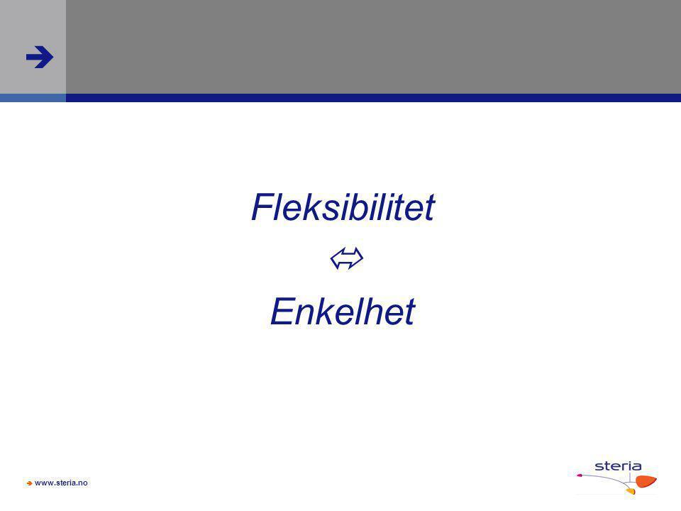 Fleksibilitet  Enkelhet Slide 32