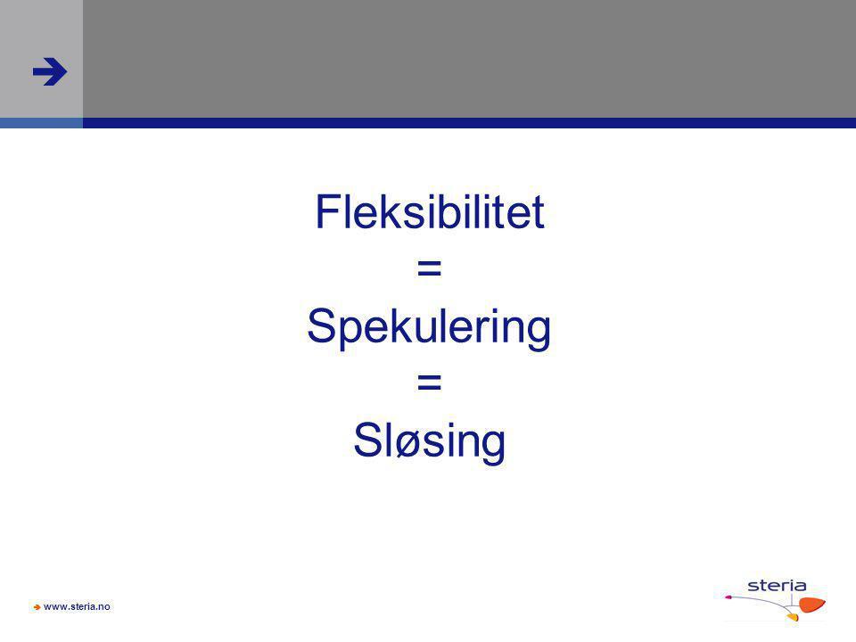 Fleksibilitet = Spekulering = Sløsing