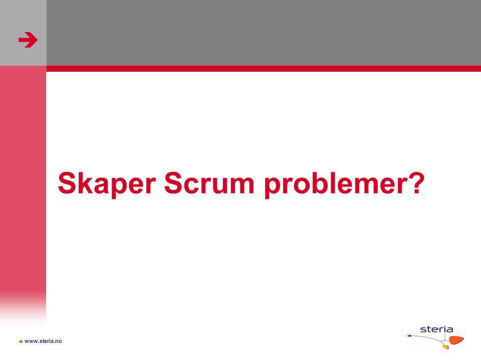 Skaper Scrum problemer