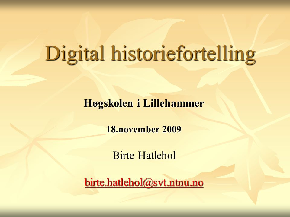 Digital historiefortelling