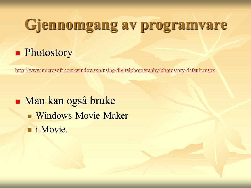 Gjennomgang av programvare