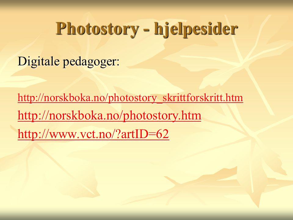 Photostory - hjelpesider