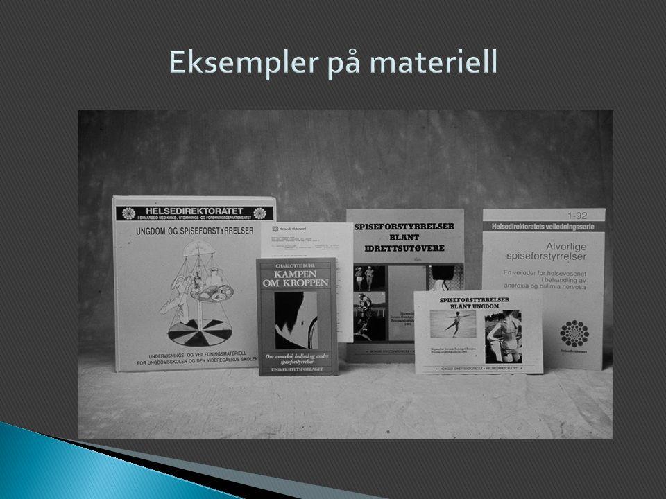 Eksempler på materiell
