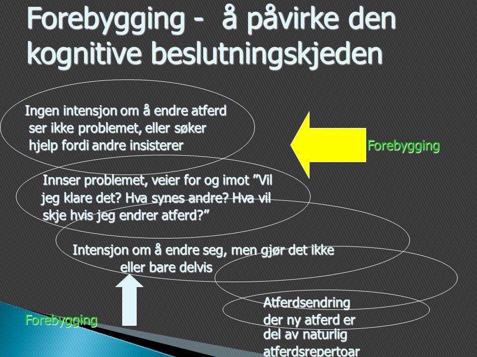 Forebygging - å påvirke den kognitive beslutningskjeden