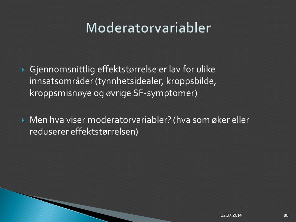 Moderatorvariabler