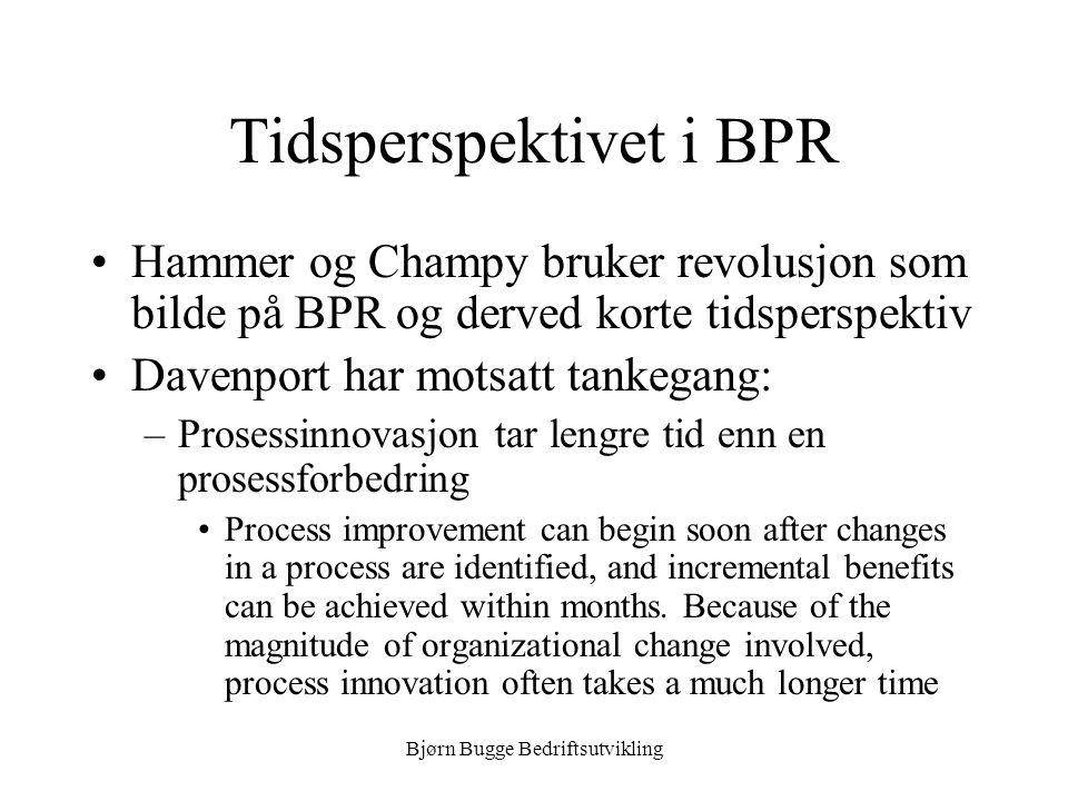 Tidsperspektivet i BPR
