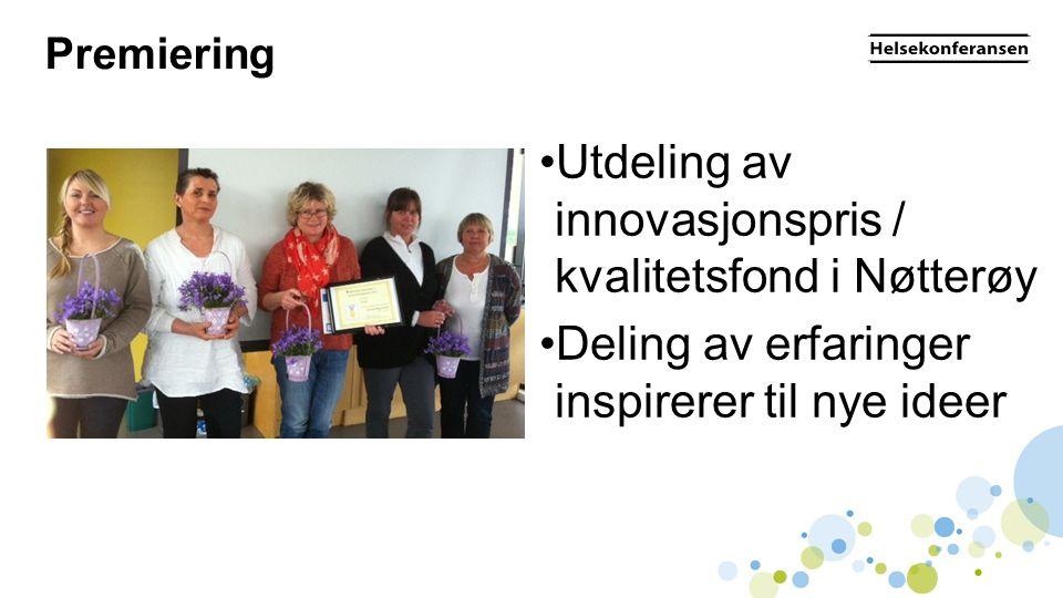 Utdeling av innovasjonspris / kvalitetsfond i Nøtterøy