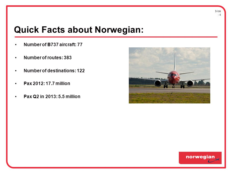 Quick Facts about Norwegian: