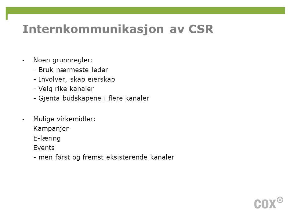 Internkommunikasjon av CSR