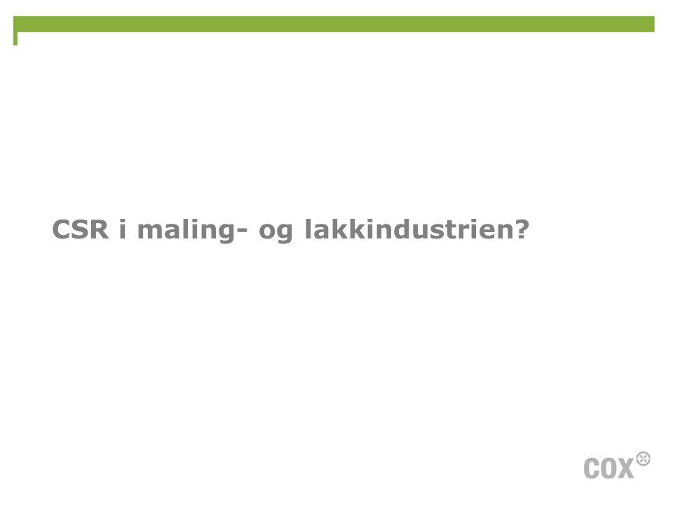 CSR i maling- og lakkindustrien