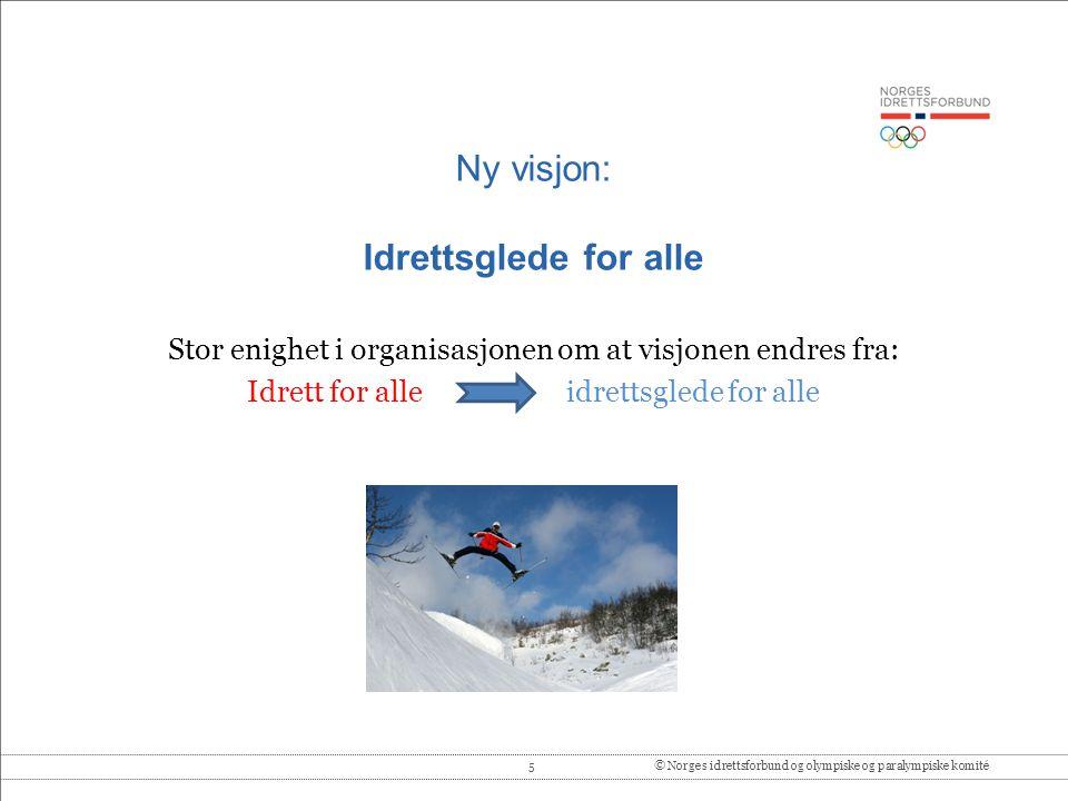 Ny visjon: Idrettsglede for alle