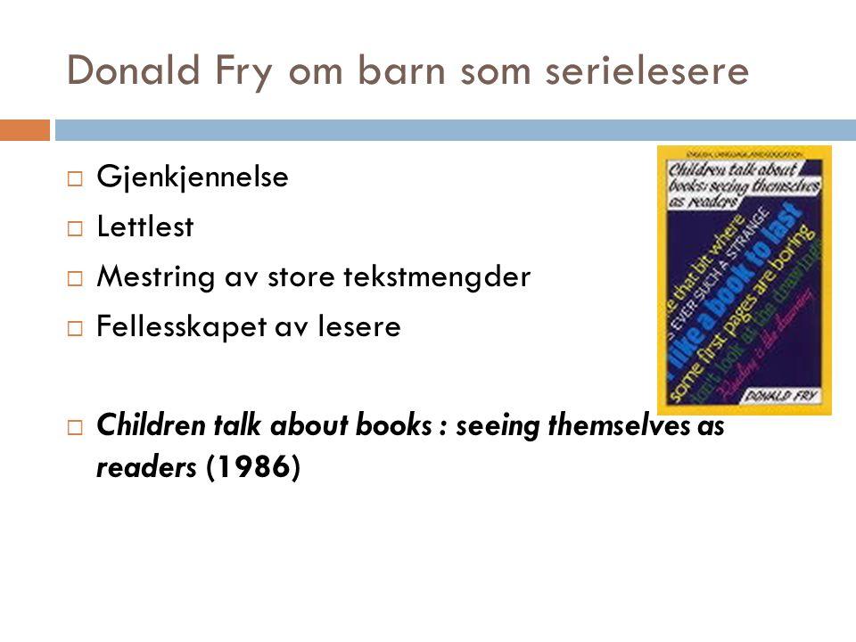 Donald Fry om barn som serielesere