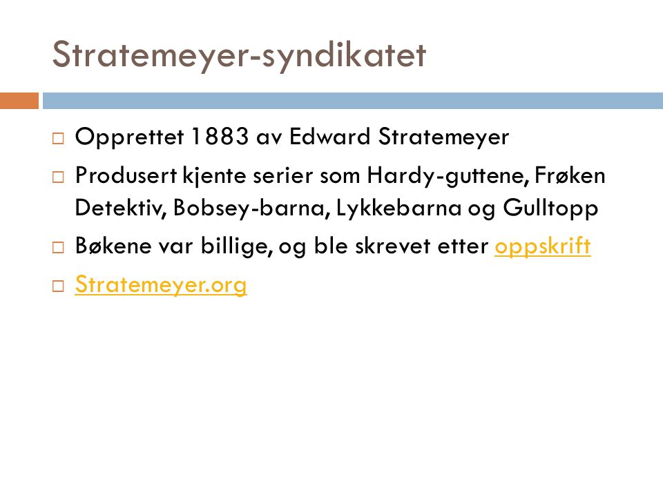 Stratemeyer-syndikatet