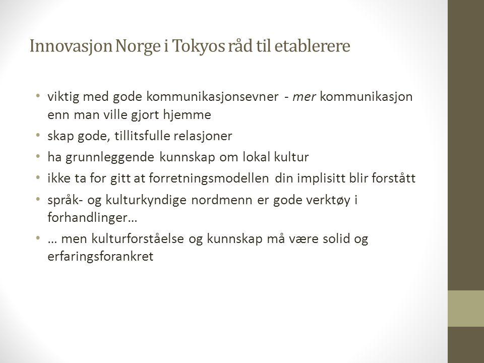 Innovasjon Norge i Tokyos råd til etablerere