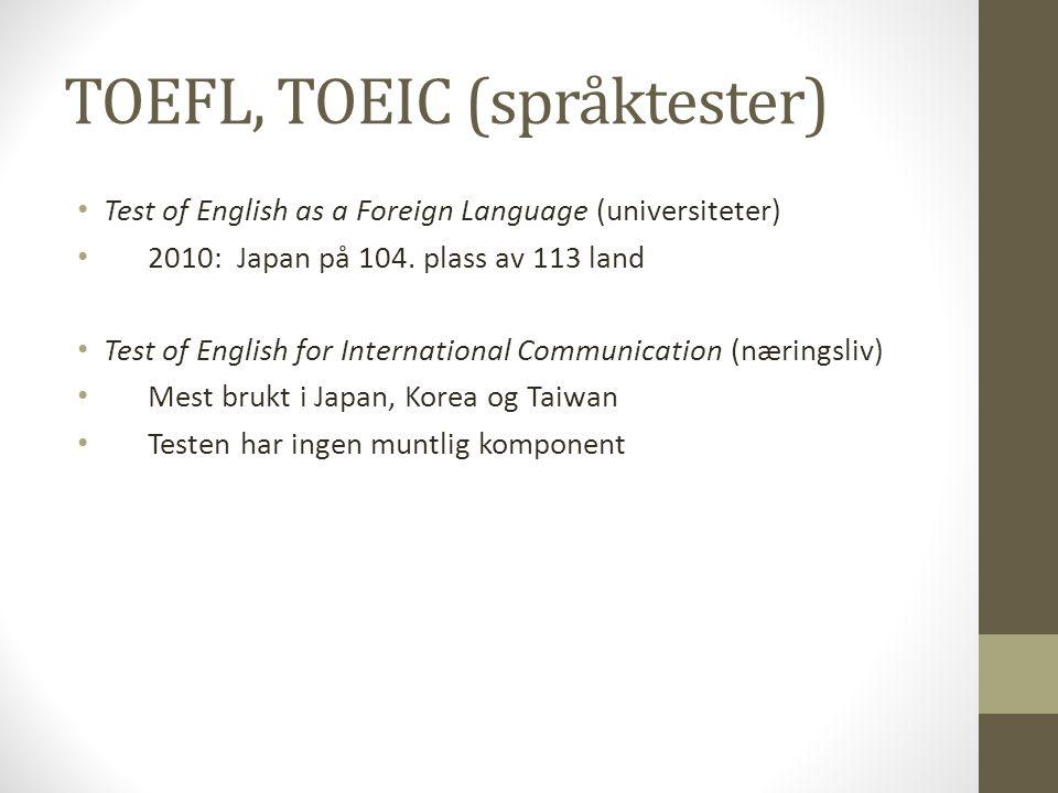 TOEFL, TOEIC (språktester)
