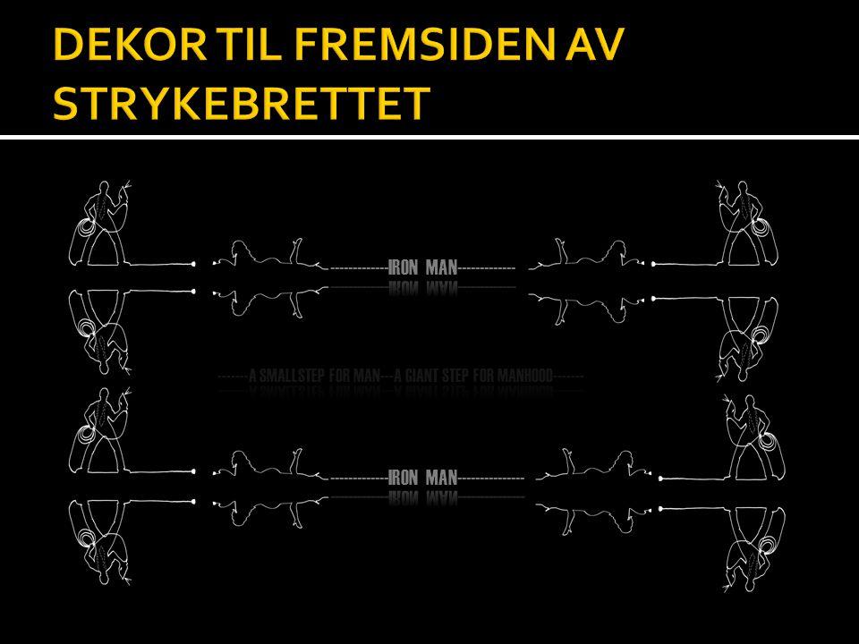 DEKOR TIL FREMSIDEN AV STRYKEBRETTET