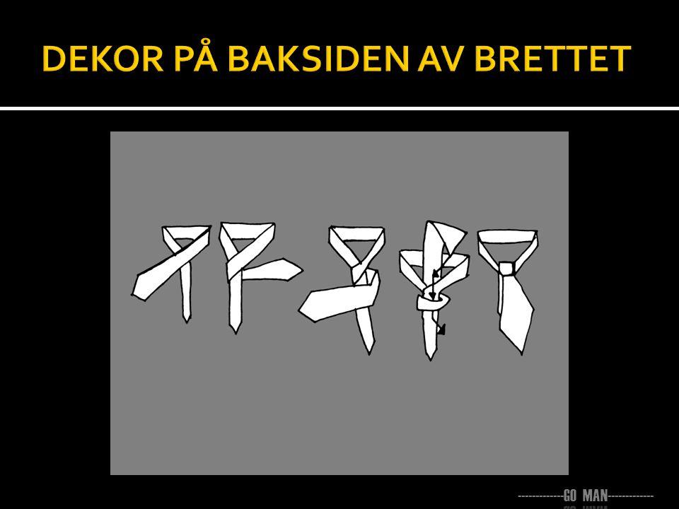 DEKOR PÅ BAKSIDEN AV BRETTET