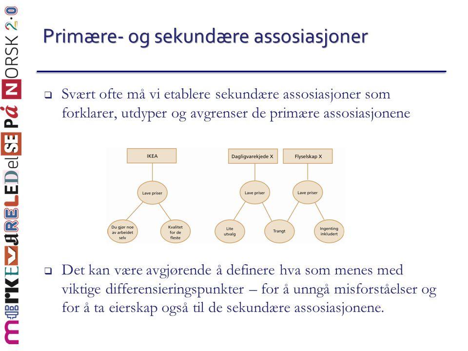 Primære- og sekundære assosiasjoner