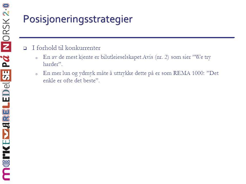 Posisjoneringsstrategier