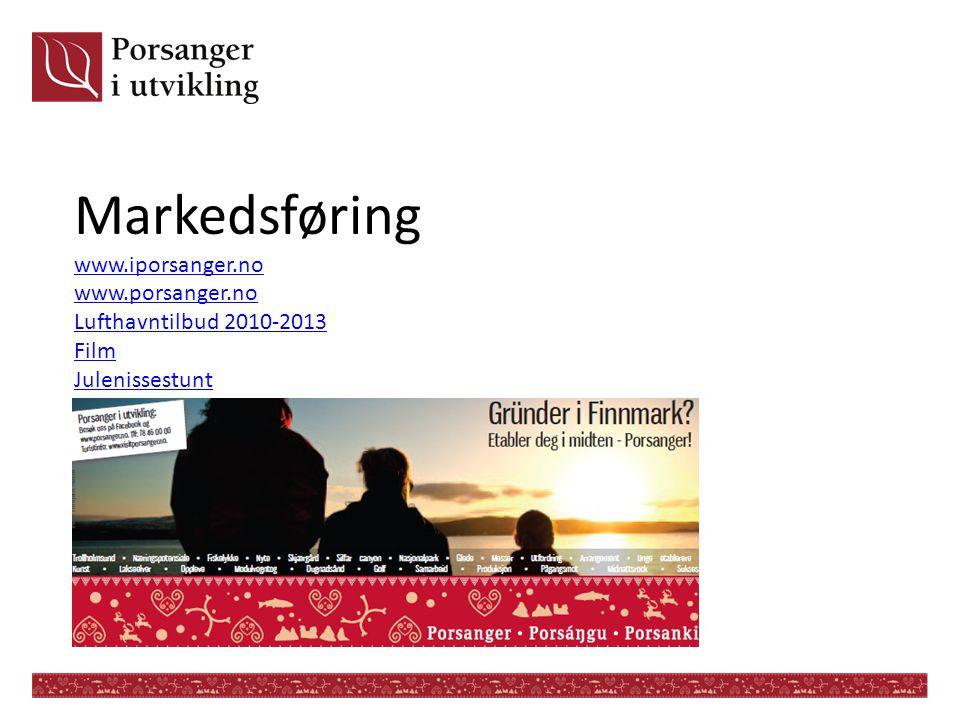 Markedsføring www. iporsanger. no www. porsanger