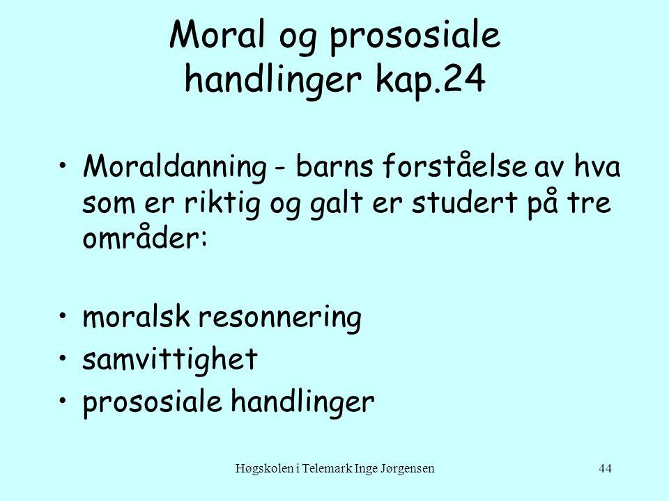 Moral og prososiale handlinger kap.24