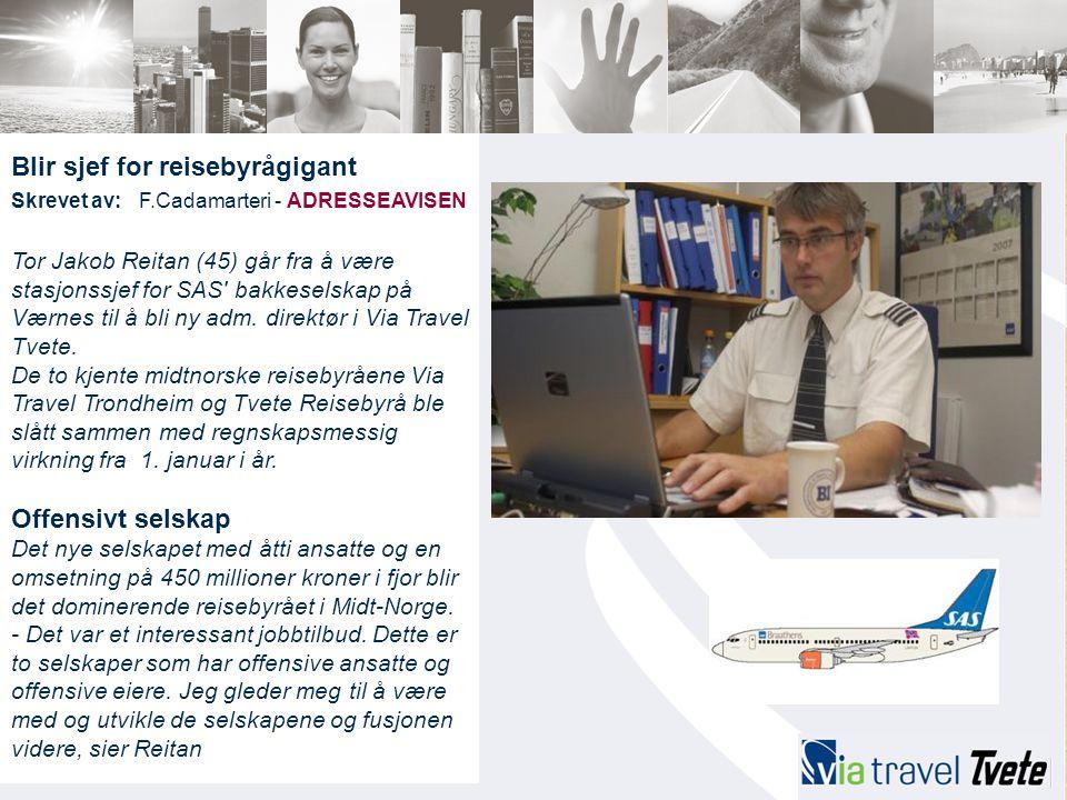 Blir sjef for reisebyrågigant