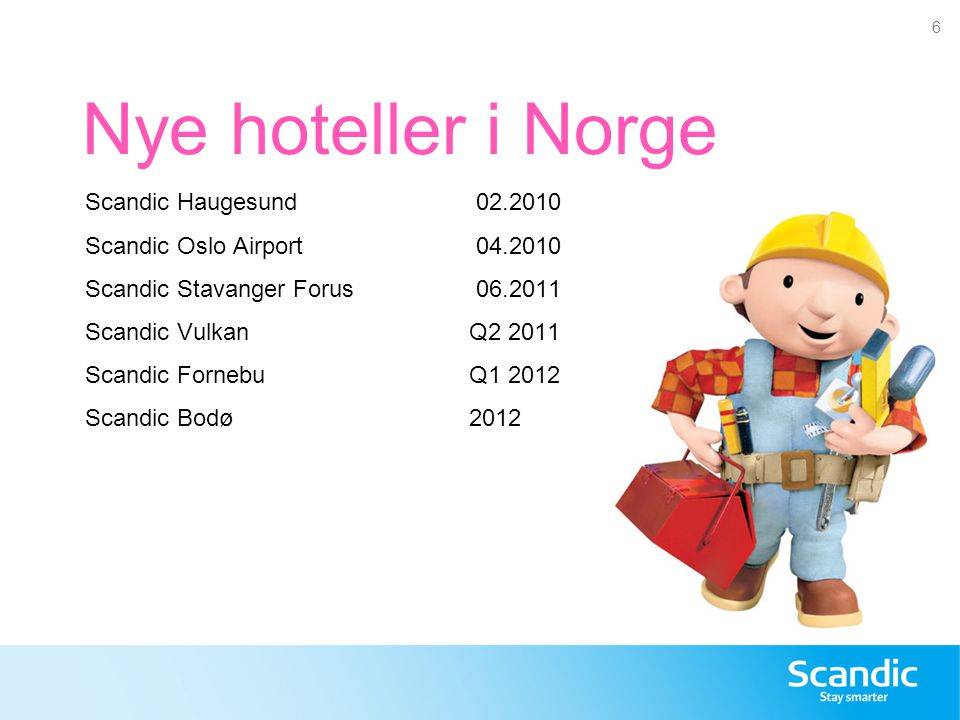 Nye hoteller i Norge Scandic Haugesund 02.2010