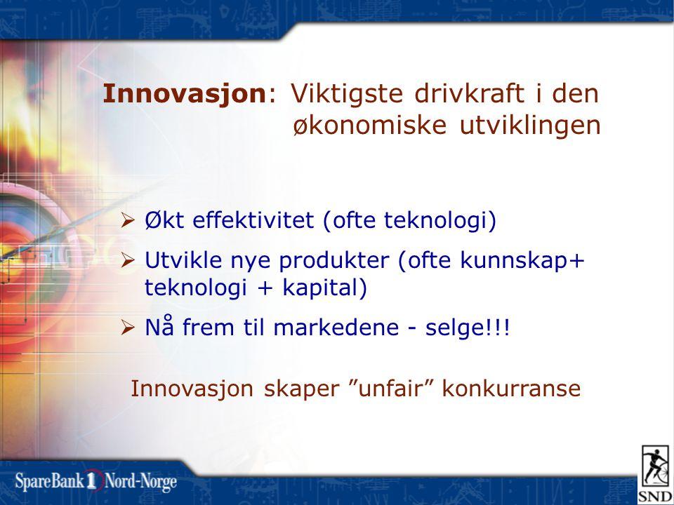 Innovasjon: Viktigste drivkraft i den økonomiske utviklingen