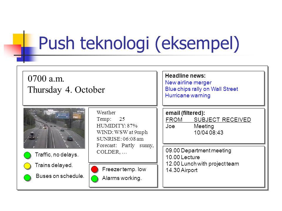 Push teknologi (eksempel)
