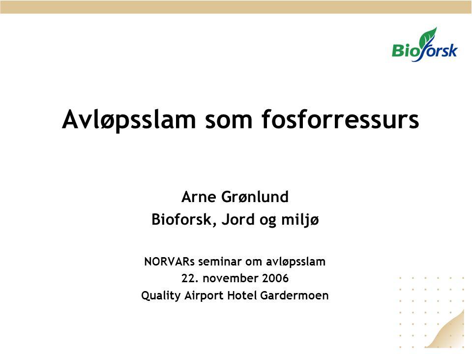 Avløpsslam som fosforressurs