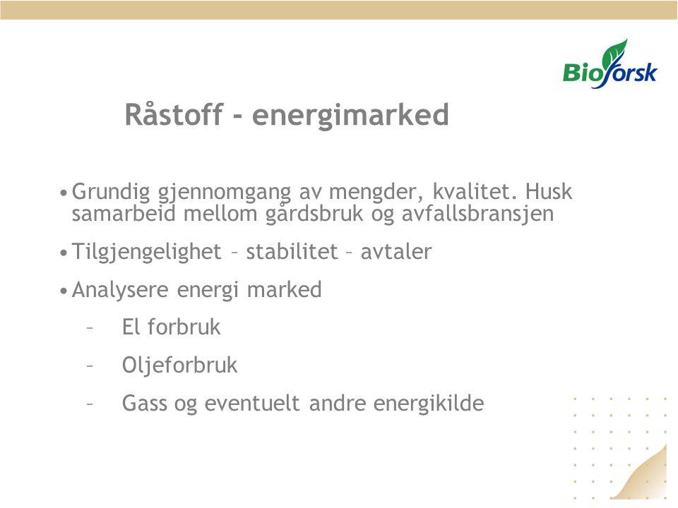 Råstoff - energimarked