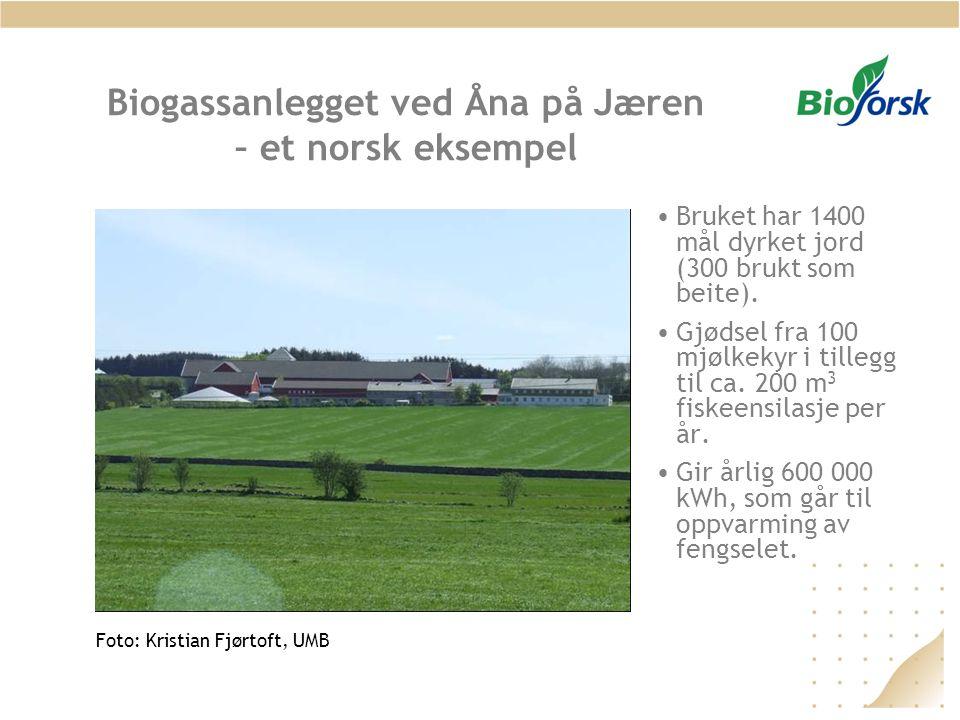 Biogassanlegget ved Åna på Jæren – et norsk eksempel