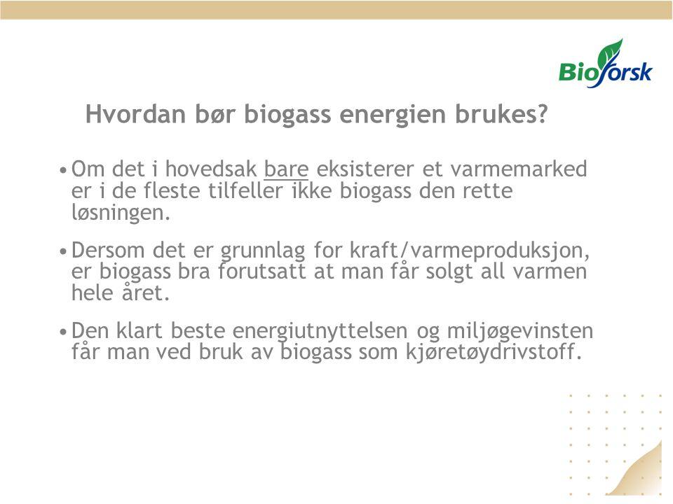 Hvordan bør biogass energien brukes