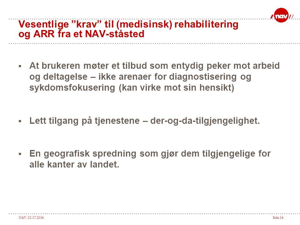 Vesentlige krav til (medisinsk) rehabilitering og ARR fra et NAV-ståsted