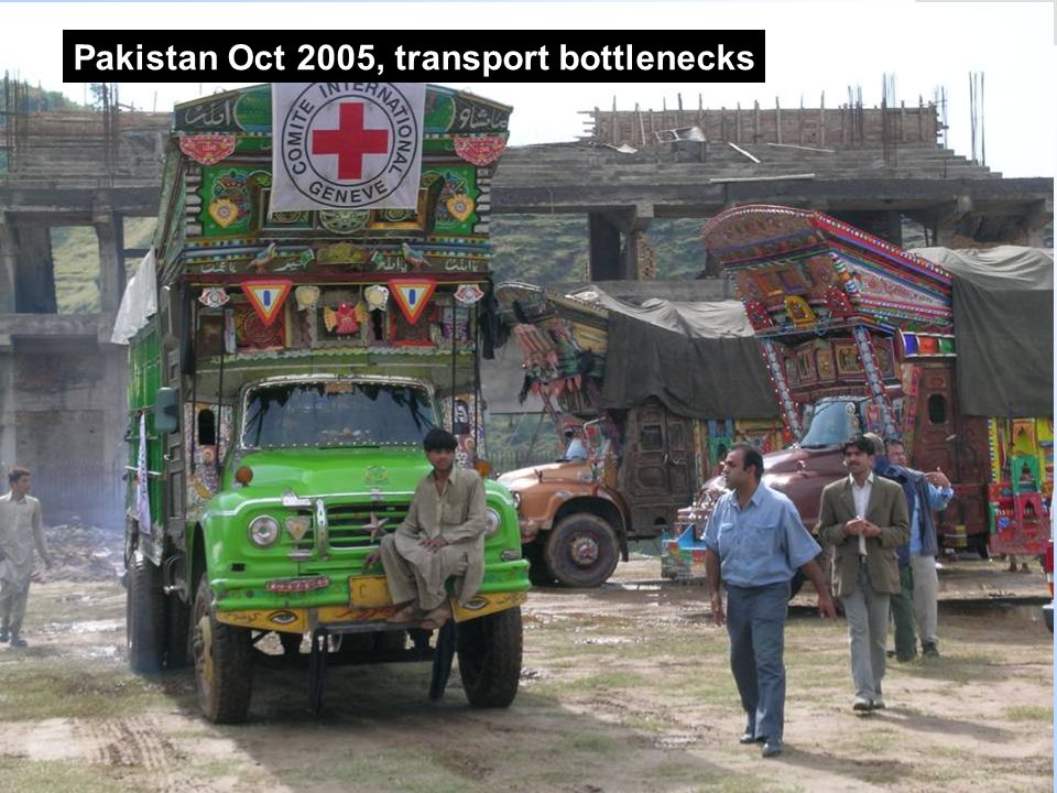 Pakistan Oct 2005, transport bottlenecks