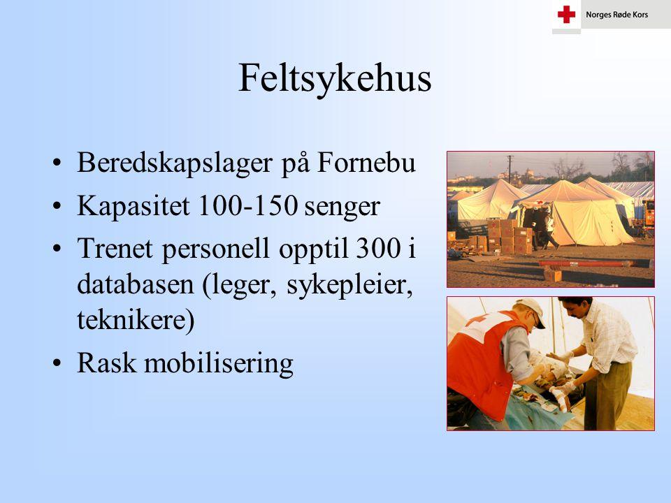 Feltsykehus Beredskapslager på Fornebu Kapasitet 100-150 senger