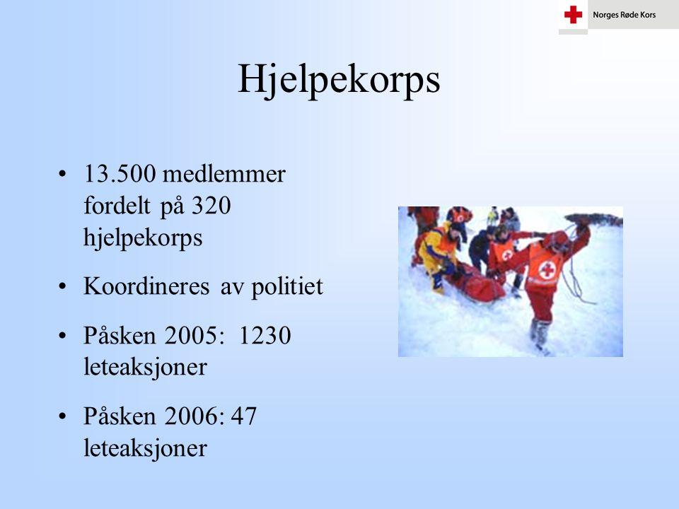 Hjelpekorps 13.500 medlemmer fordelt på 320 hjelpekorps