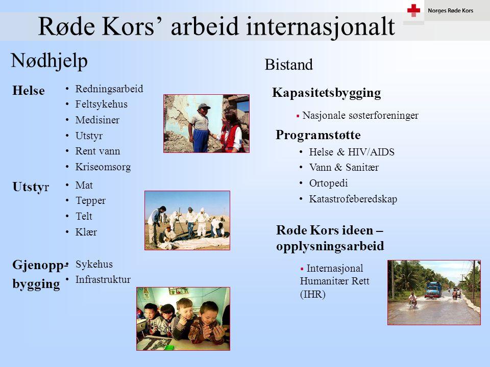 Røde Kors' arbeid internasjonalt