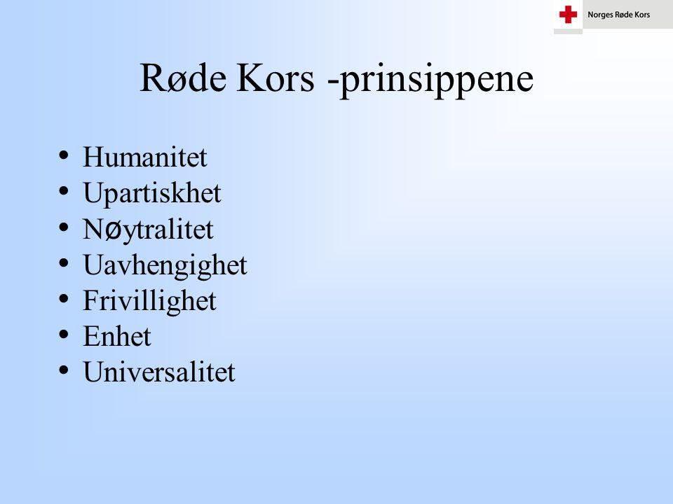 Røde Kors -prinsippene