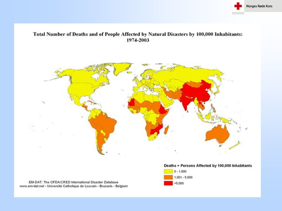 The poorest regions are continuously affected by disasters