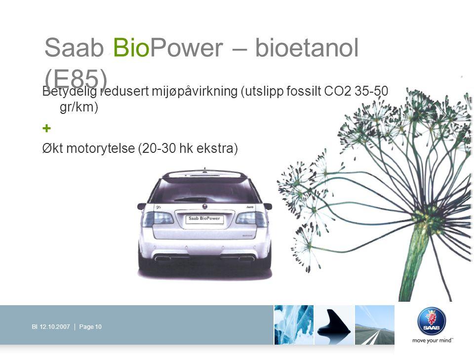 Saab BioPower – bioetanol (E85)