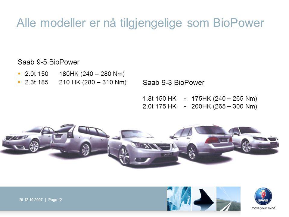 Alle modeller er nå tilgjengelige som BioPower