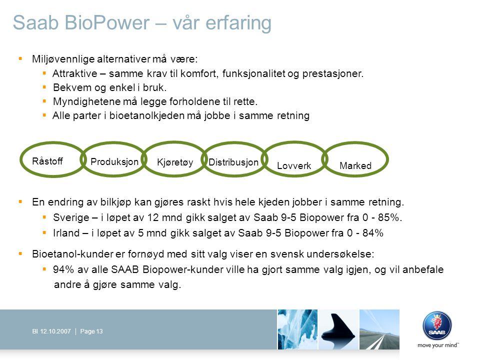 Saab BioPower – vår erfaring