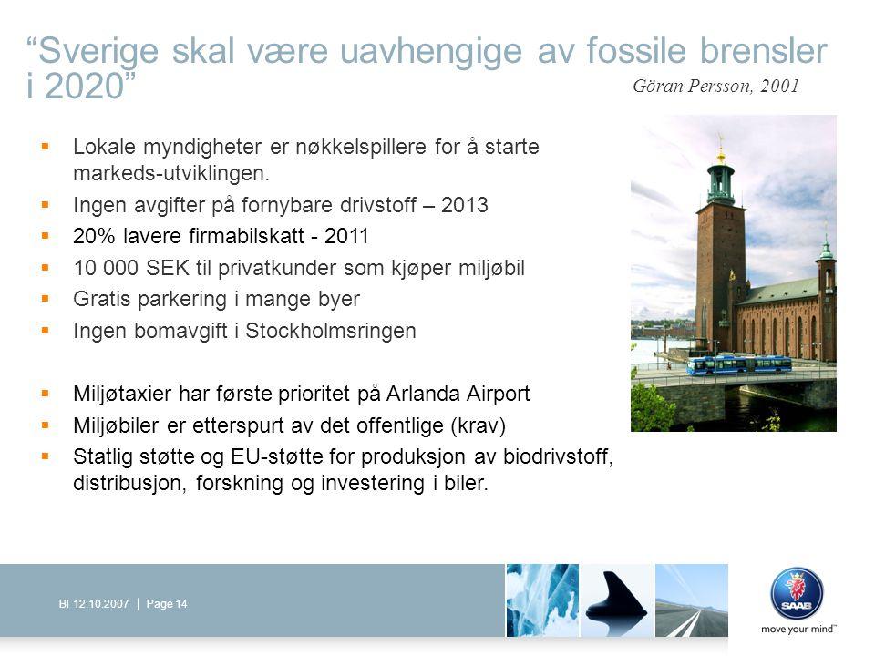 Sverige skal være uavhengige av fossile brensler i 2020