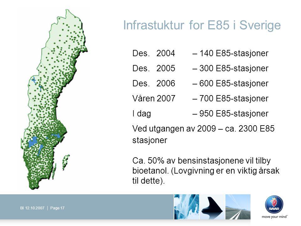 Infrastuktur for E85 i Sverige