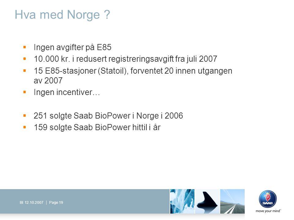 Hva med Norge Ingen avgifter på E85