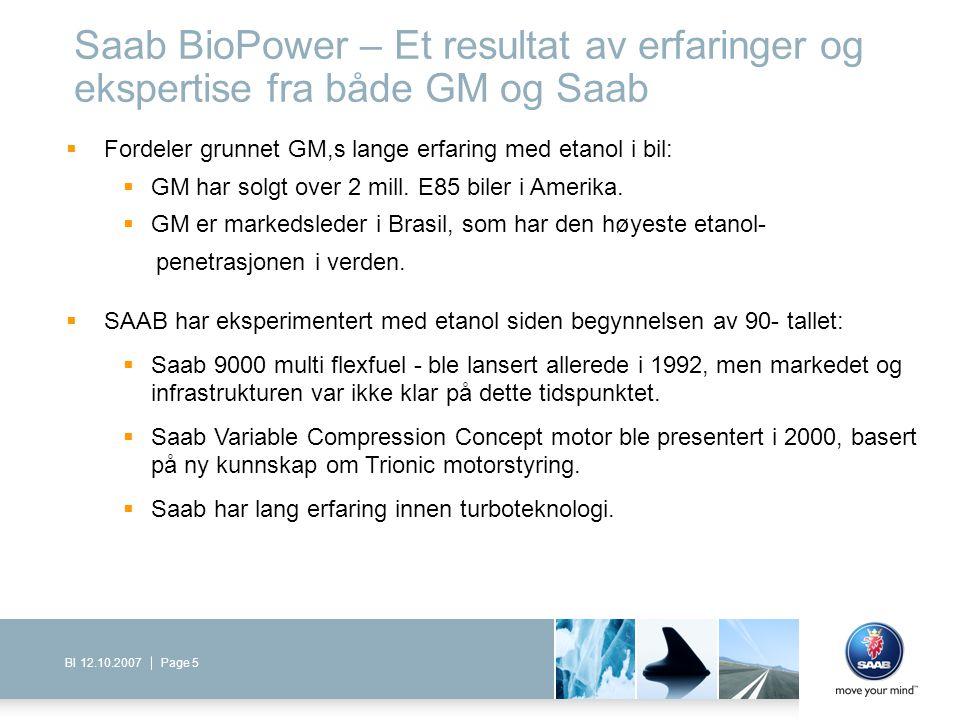 Saab BioPower – Et resultat av erfaringer og ekspertise fra både GM og Saab